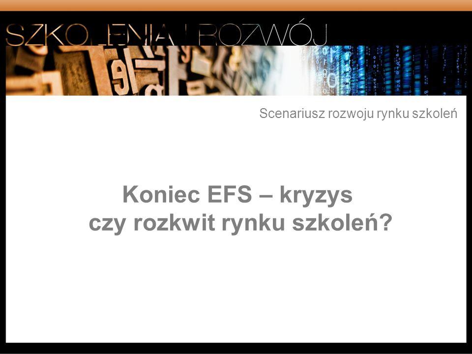 Koniec EFS – kryzys czy rozkwit rynku szkoleń