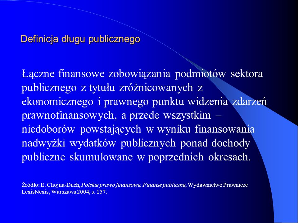 Definicja długu publicznego
