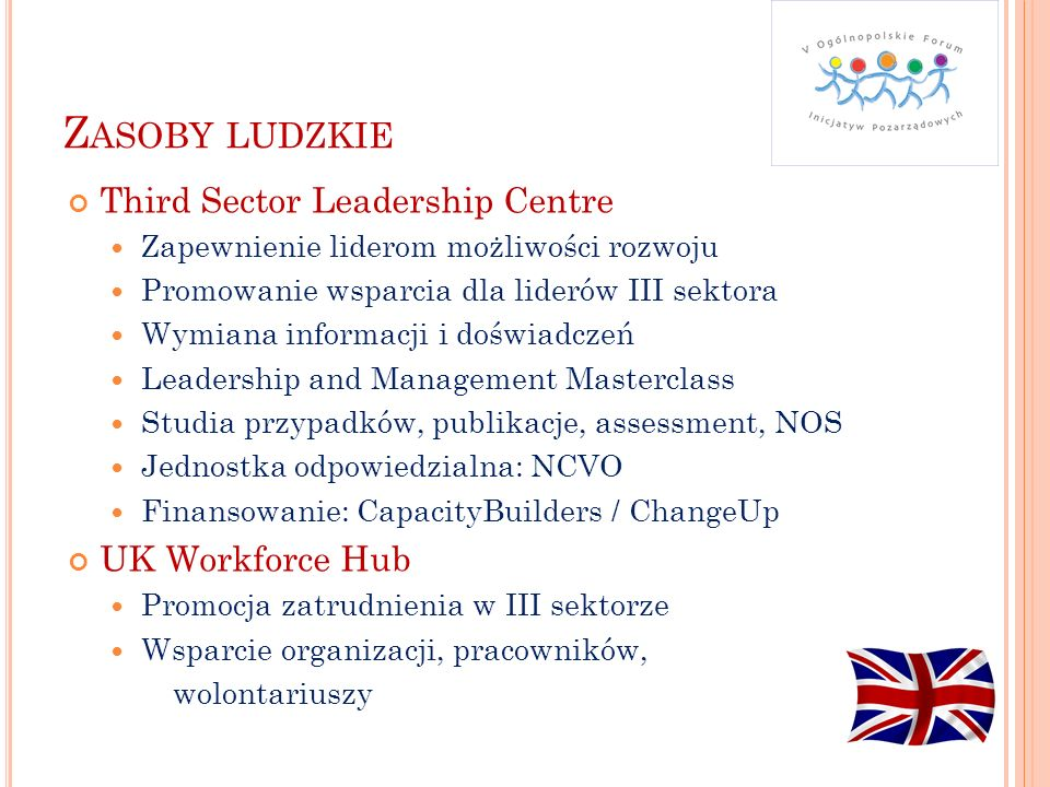 Zasoby ludzkie Third Sector Leadership Centre UK Workforce Hub