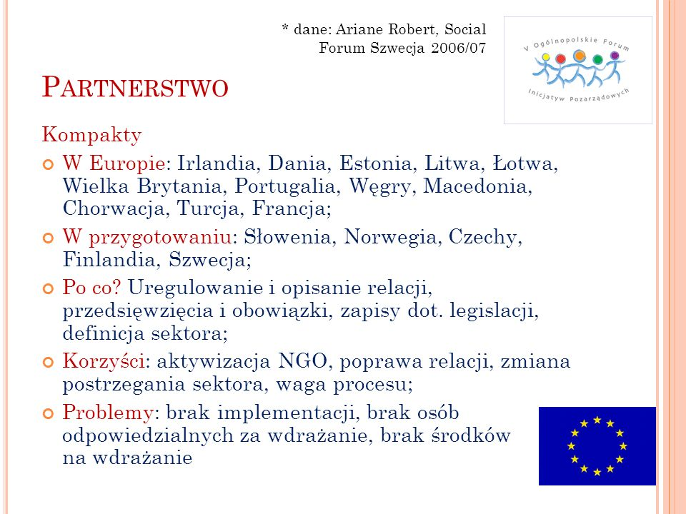 * dane: Ariane Robert, Social Forum Szwecja 2006/07