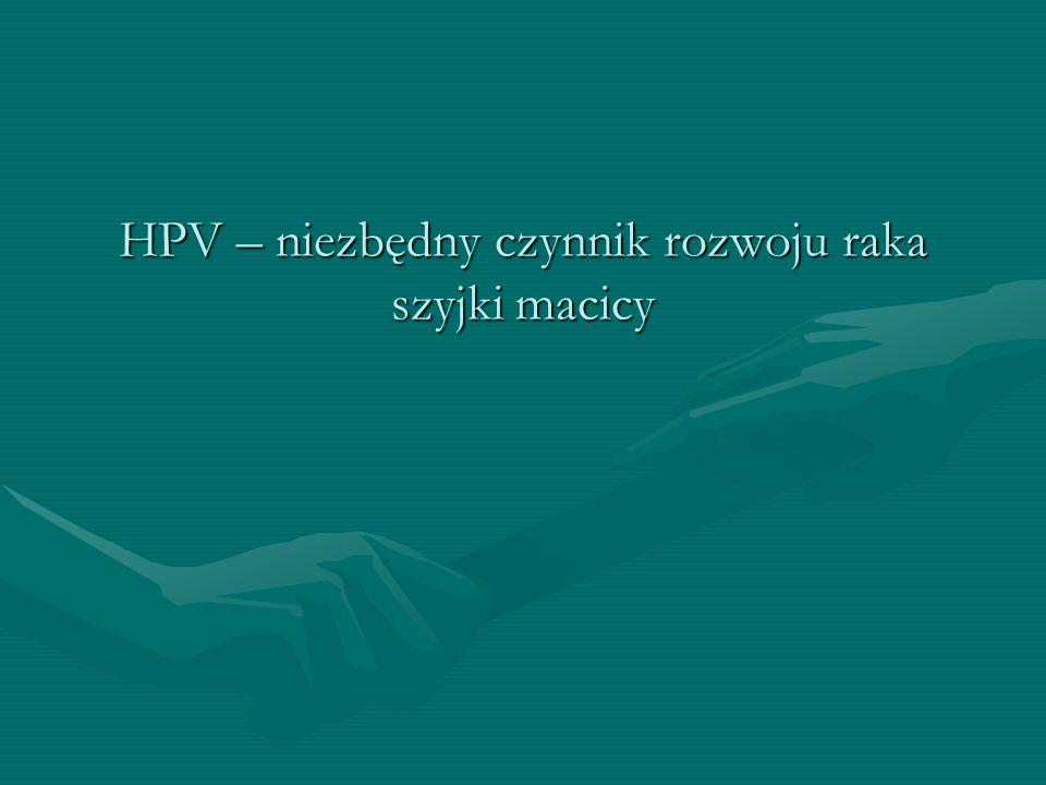 HPV – niezbędny czynnik rozwoju raka szyjki macicy