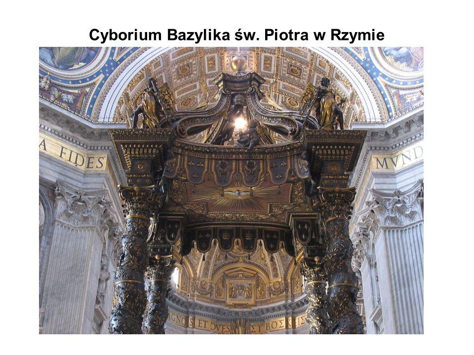 Cyborium Bazylika św. Piotra w Rzymie