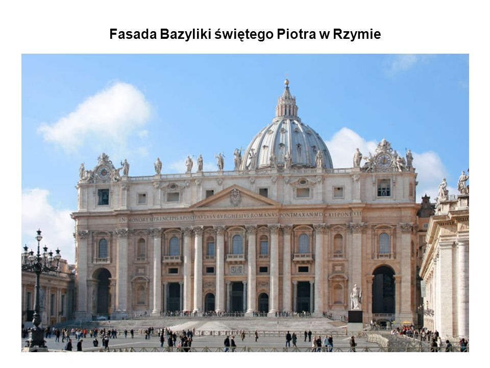 Fasada Bazyliki świętego Piotra w Rzymie