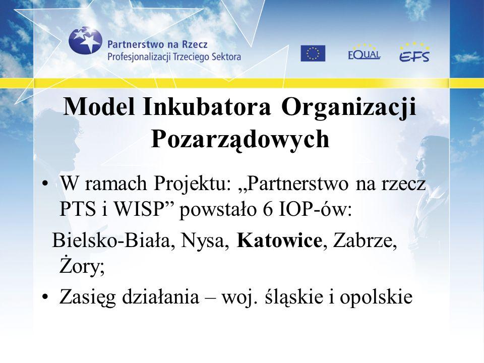 Model Inkubatora Organizacji Pozarządowych