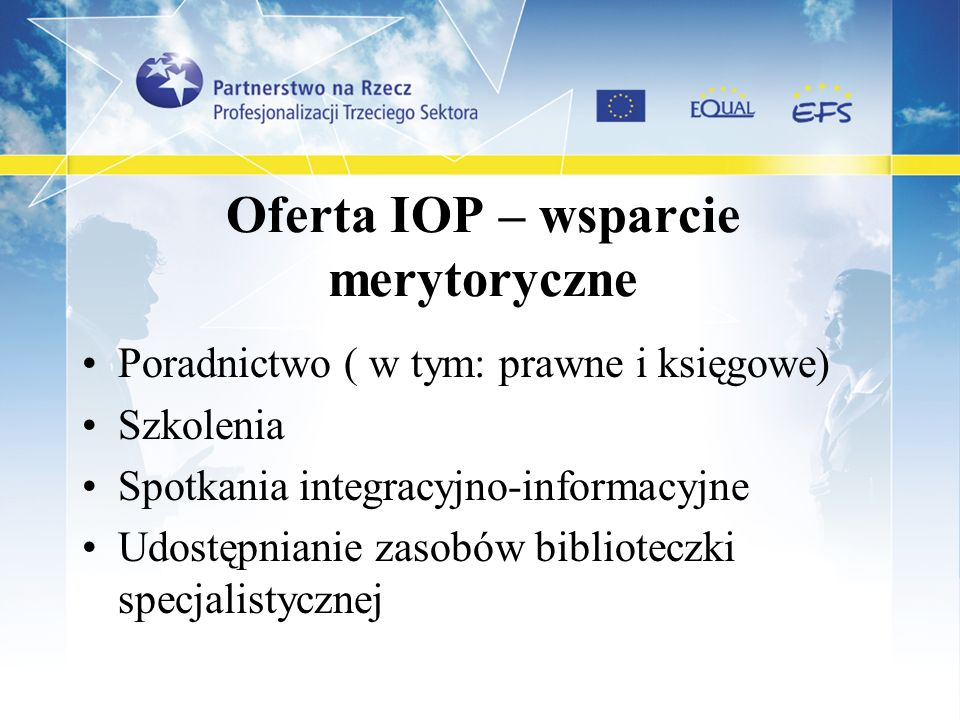 Oferta IOP – wsparcie merytoryczne