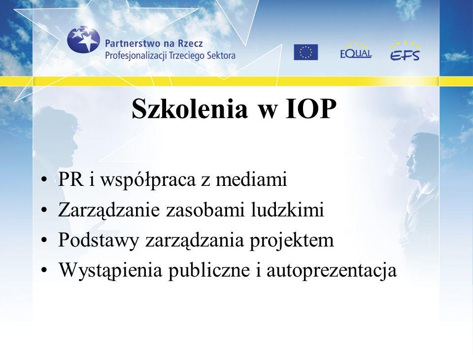 Szkolenia w IOP PR i współpraca z mediami
