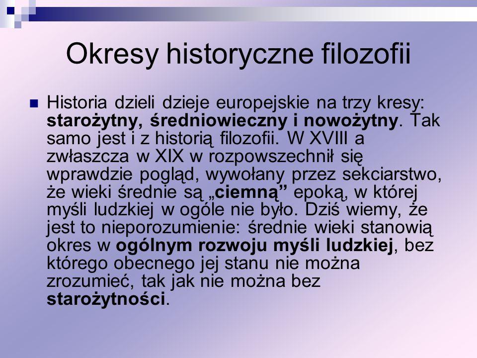 Okresy historyczne filozofii