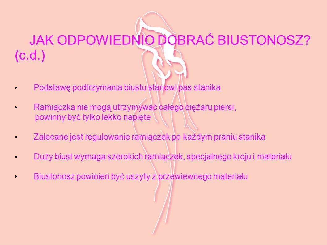 JAK ODPOWIEDNIO DOBRAĆ BIUSTONOSZ (c.d.)