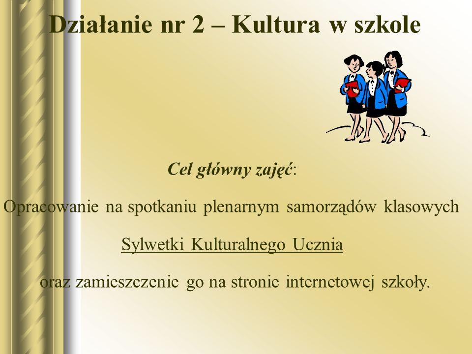 Działanie nr 2 – Kultura w szkole