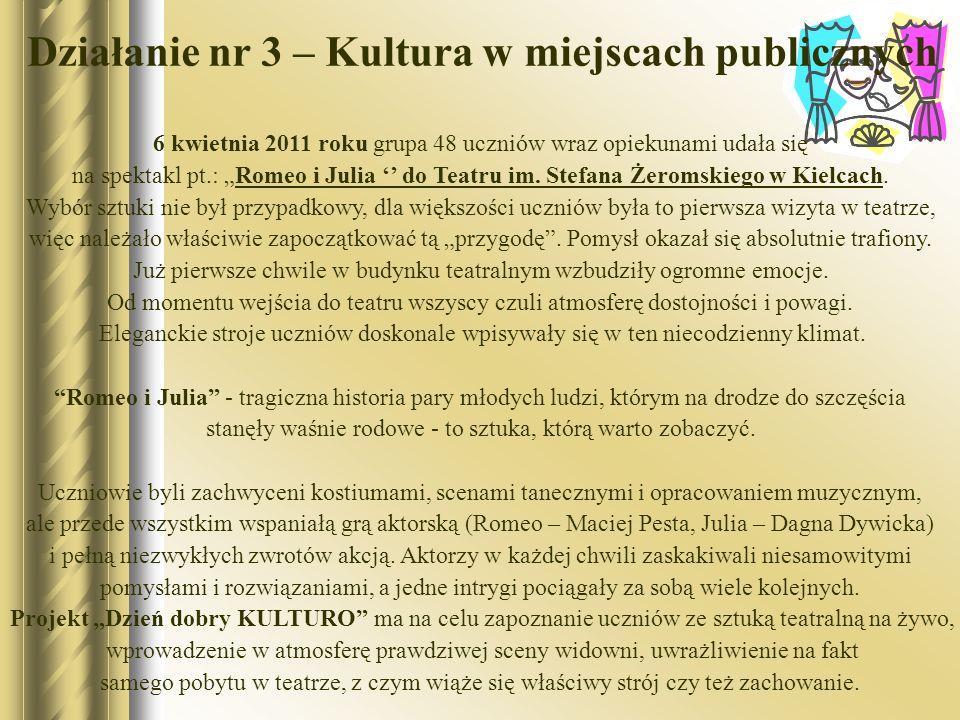 Działanie nr 3 – Kultura w miejscach publicznych