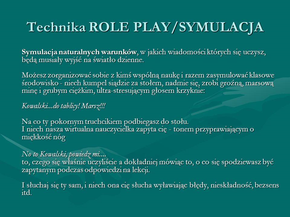 Technika ROLE PLAY/SYMULACJA