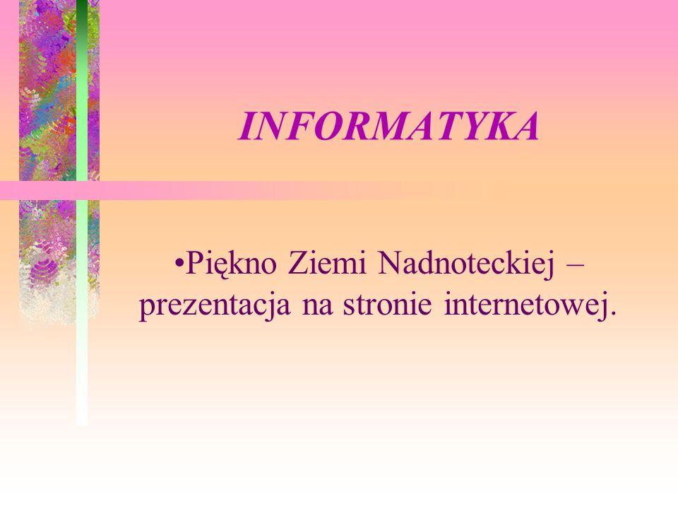 Piękno Ziemi Nadnoteckiej – prezentacja na stronie internetowej.
