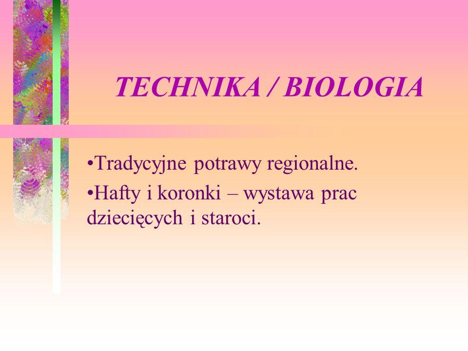 TECHNIKA / BIOLOGIA Tradycyjne potrawy regionalne.
