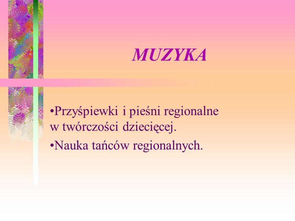 MUZYKA Przyśpiewki i pieśni regionalne w twórczości dziecięcej.