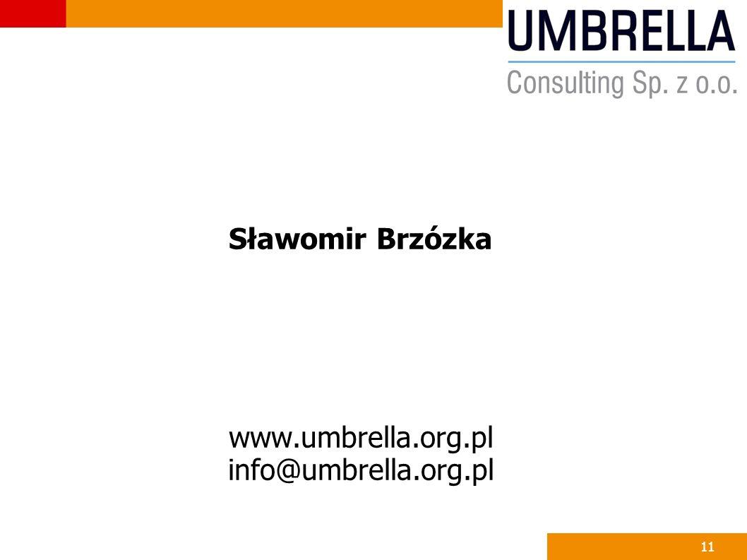 Sławomir Brzózka www.umbrella.org.pl info@umbrella.org.pl