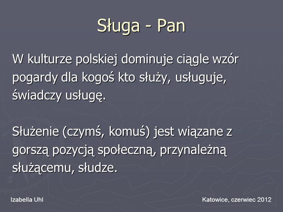 Sługa - Pan W kulturze polskiej dominuje ciągle wzór