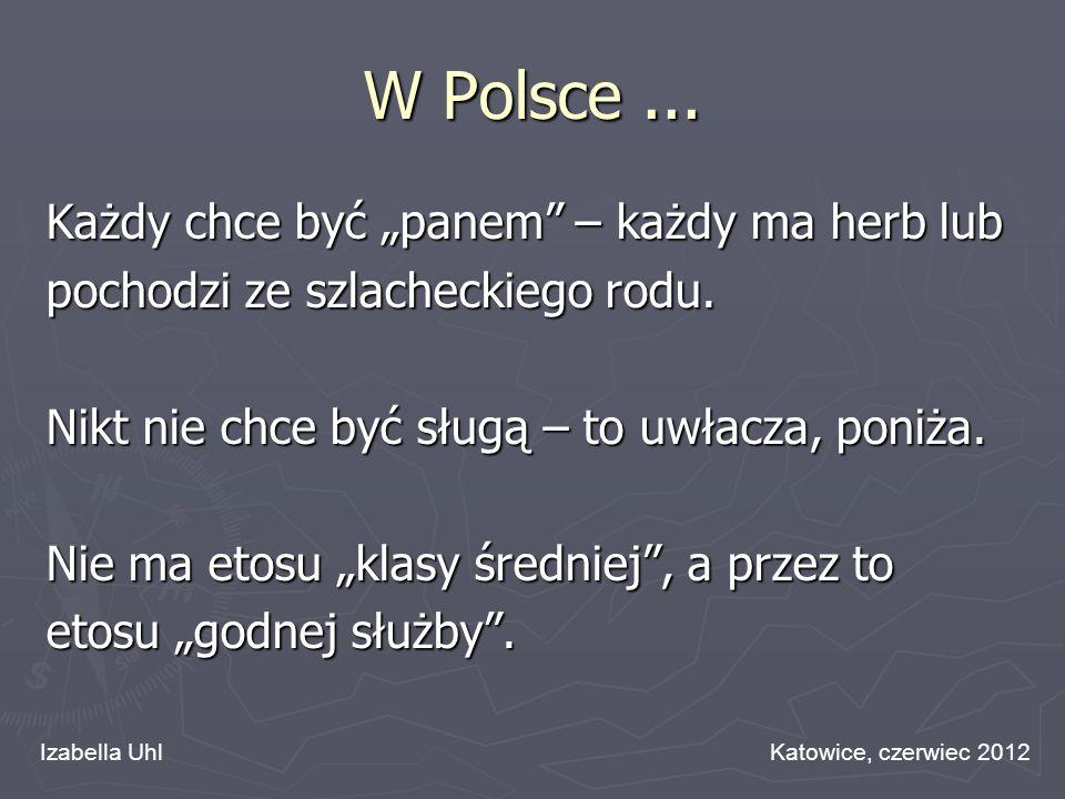 """W Polsce ... Każdy chce być """"panem – każdy ma herb lub"""