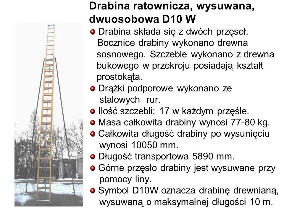 Drabina ratownicza, wysuwana, dwuosobowa D10 W