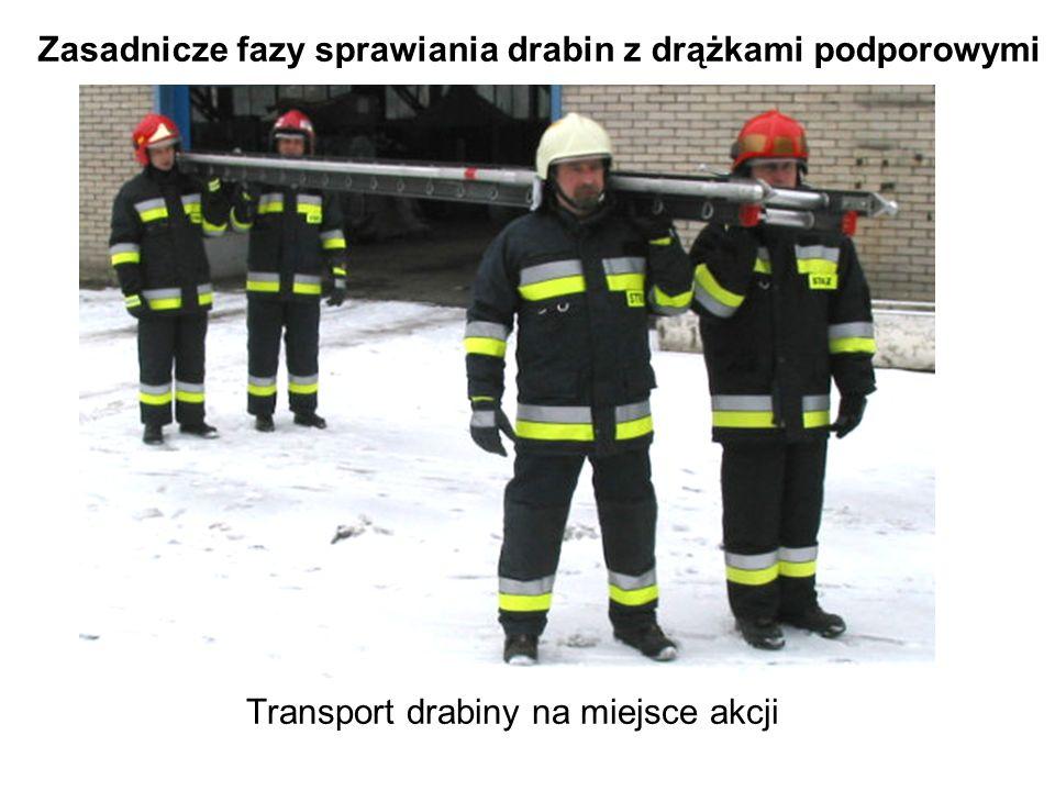 Transport drabiny na miejsce akcji