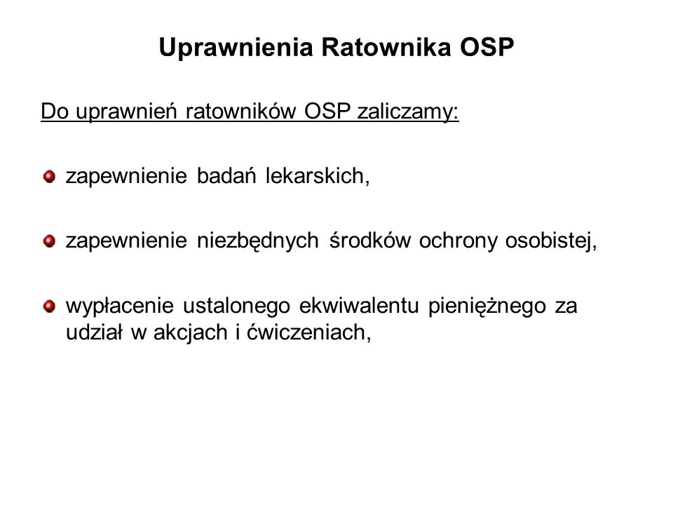 Uprawnienia Ratownika OSP