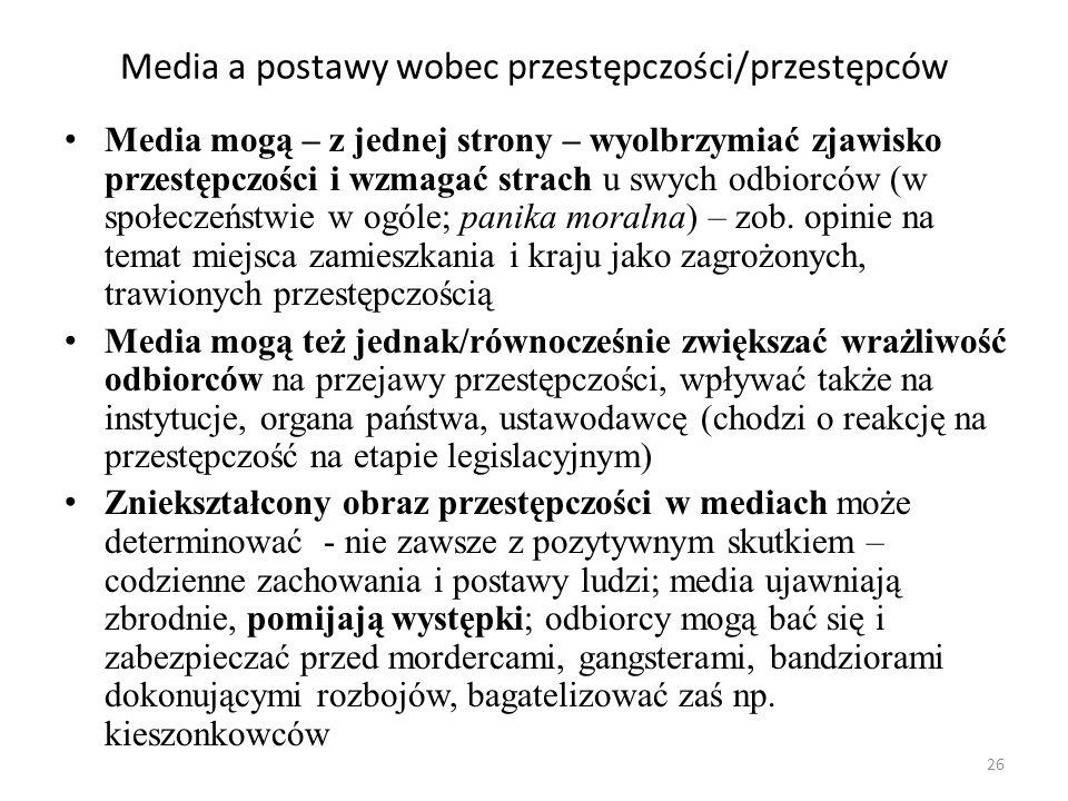 Media a postawy wobec przestępczości/przestępców