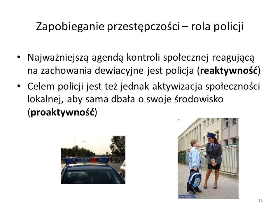 Zapobieganie przestępczości – rola policji