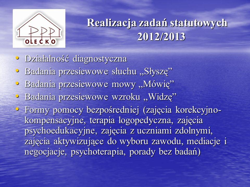 Realizacja zadań statutowych 2012/2013