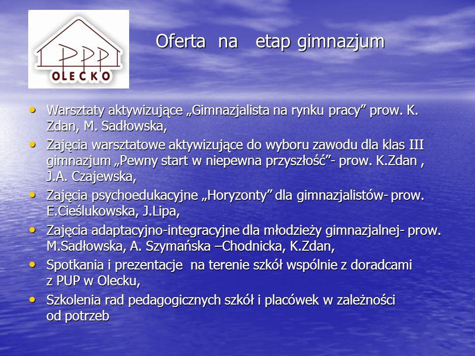 Oferta na etap gimnazjum (w tereni