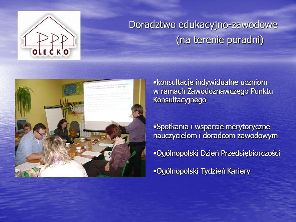Doradztwo edukacyjno-zawodowe (na terenie poradni)