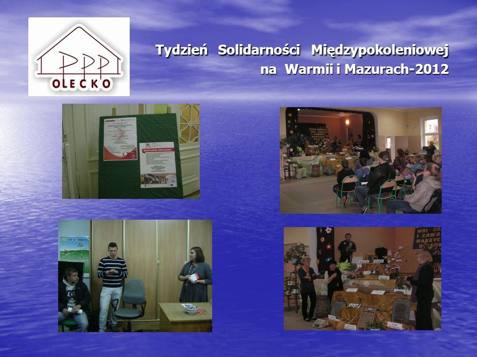 Tydzień Solidarności Międzypokoleniowej na Warmii i Mazurach-2012