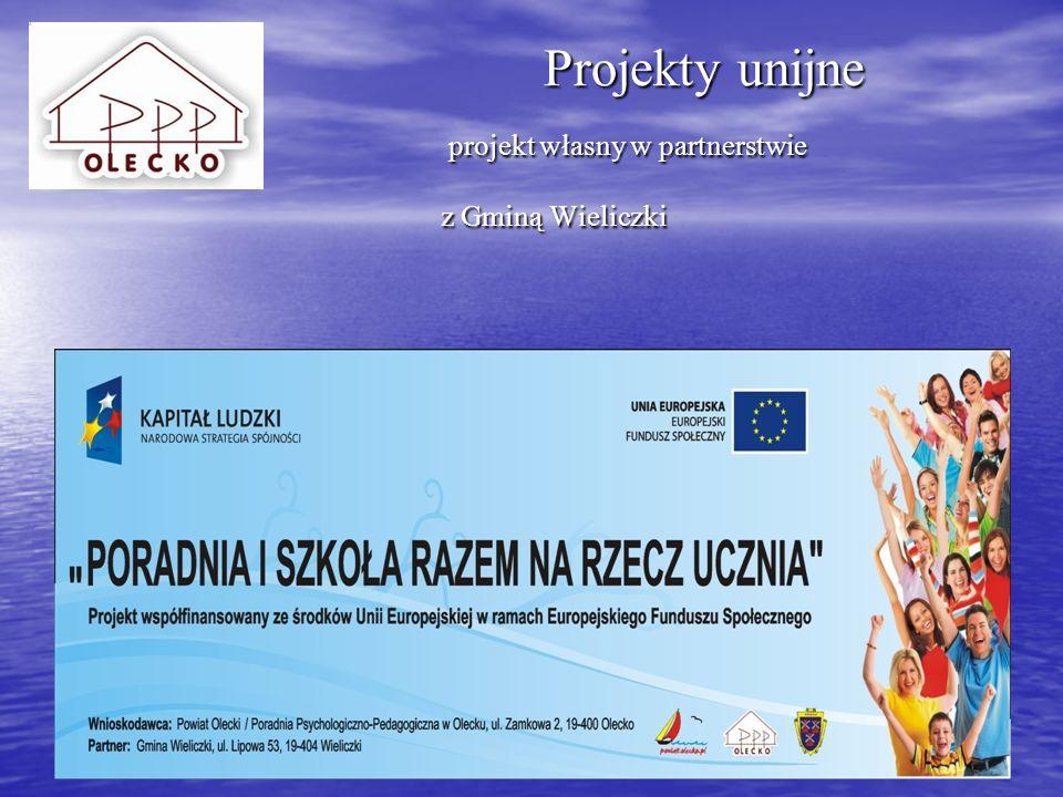 Projekty unijne projekt własny w partnerstwie z Gminą Wieliczki
