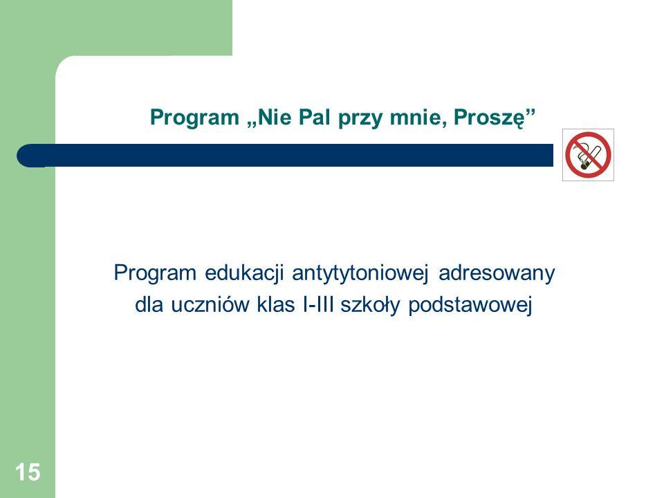 """Program """"Nie Pal przy mnie, Proszę"""