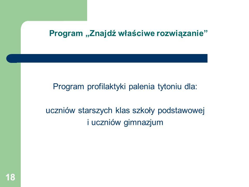 """Program """"Znajdź właściwe rozwiązanie"""