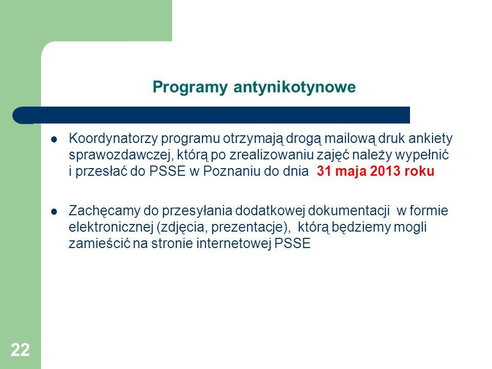 Programy antynikotynowe