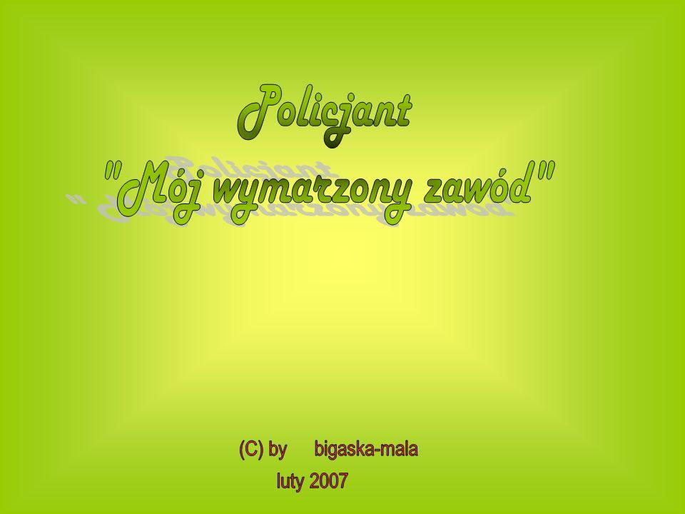 Policjant Mój wymarzony zawód (C) by bigaska-mala luty 2007