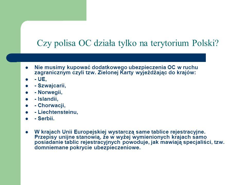 Czy polisa OC działa tylko na terytorium Polski