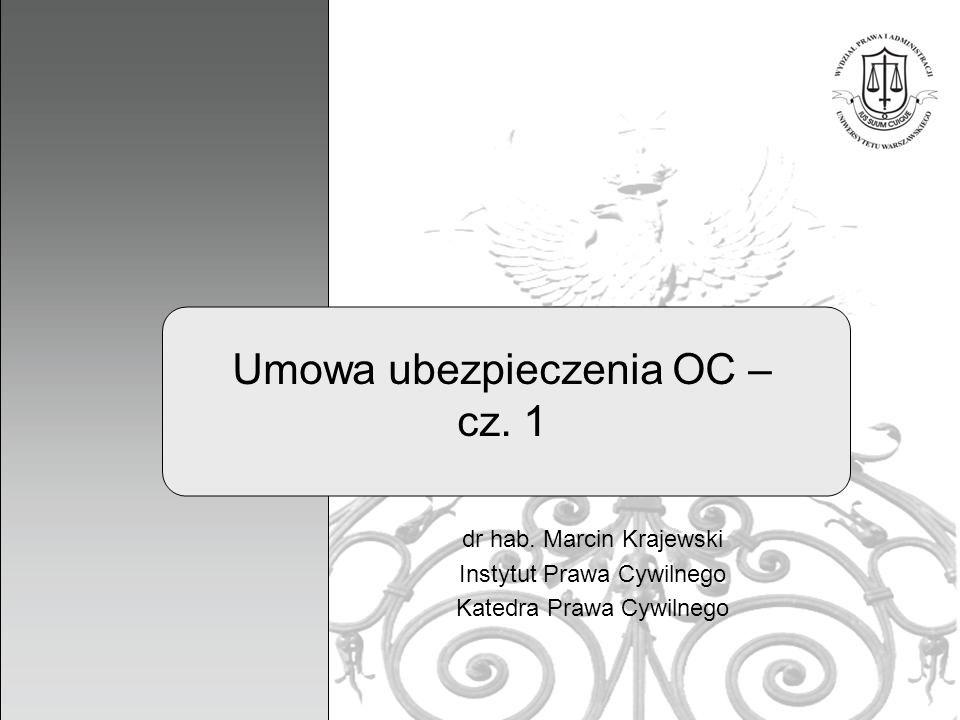 Umowa ubezpieczenia OC – cz. 1