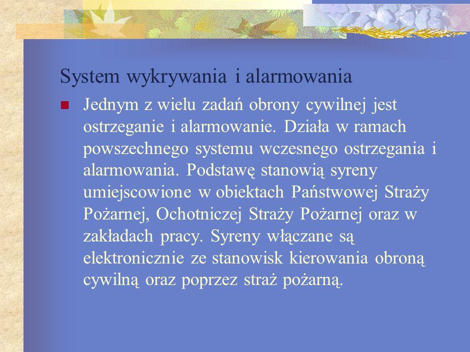 System wykrywania i alarmowania