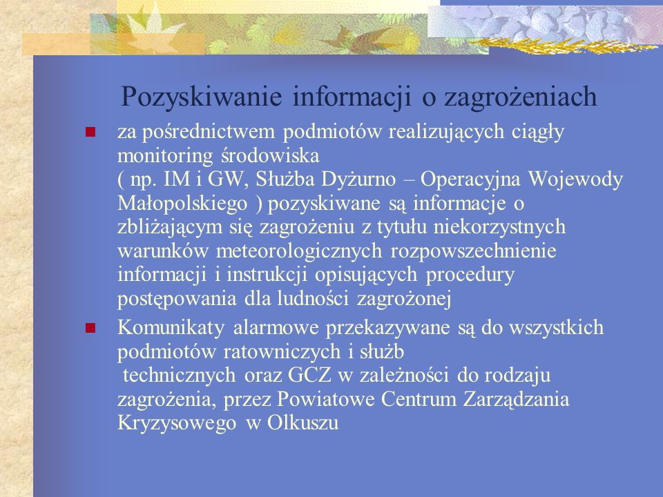 Pozyskiwanie informacji o zagrożeniach