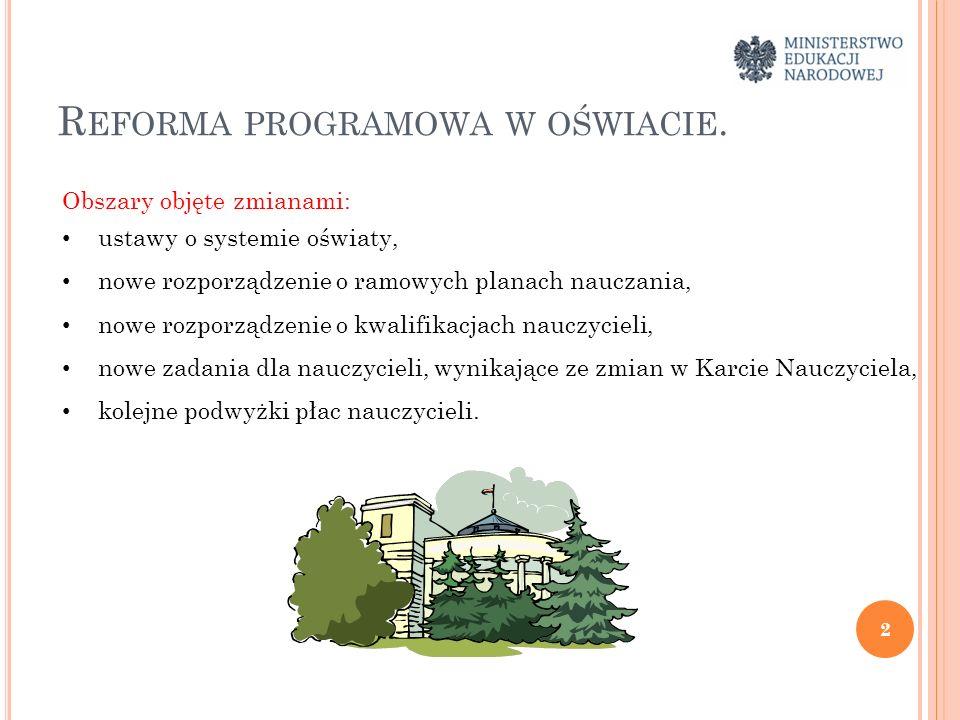 Reforma programowa w oświacie.