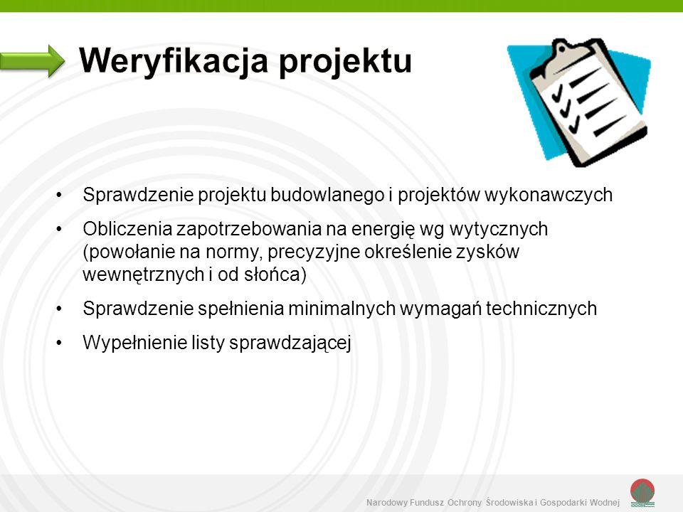 Weryfikacja projektu Sprawdzenie projektu budowlanego i projektów wykonawczych.
