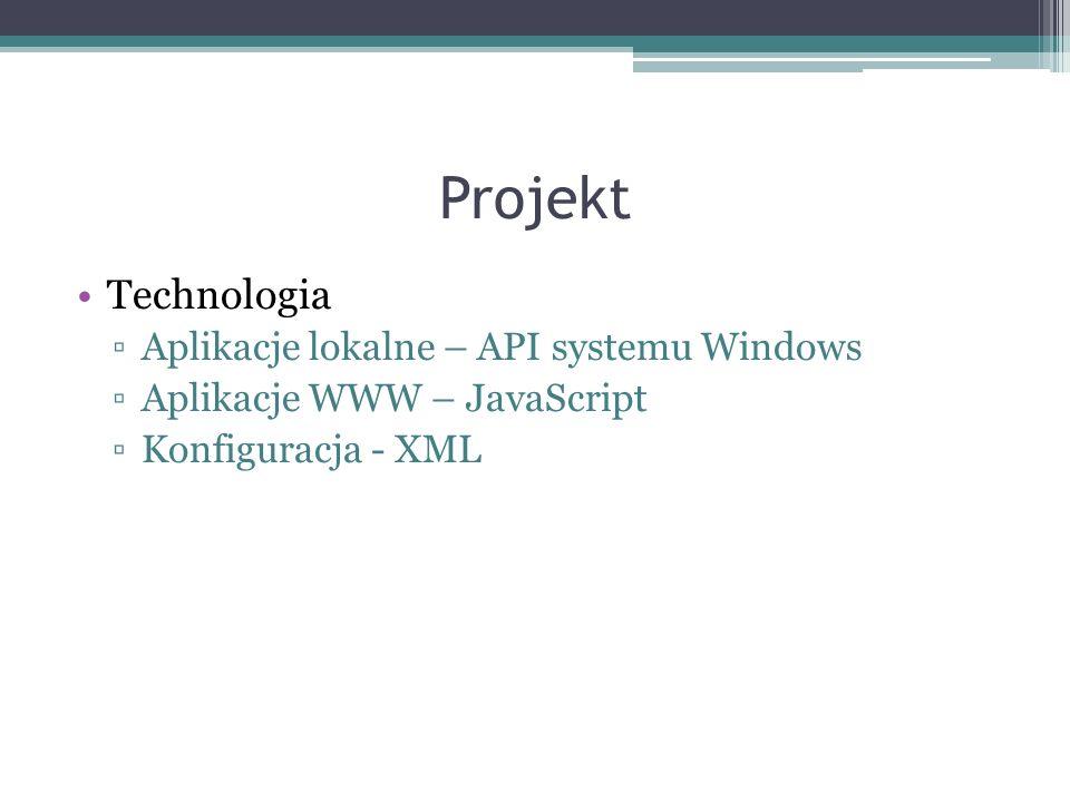 Projekt Technologia Aplikacje lokalne – API systemu Windows
