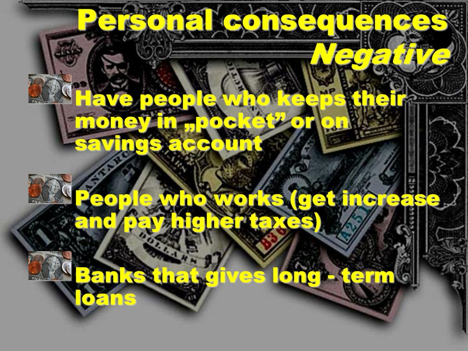 Personal consequences Negative