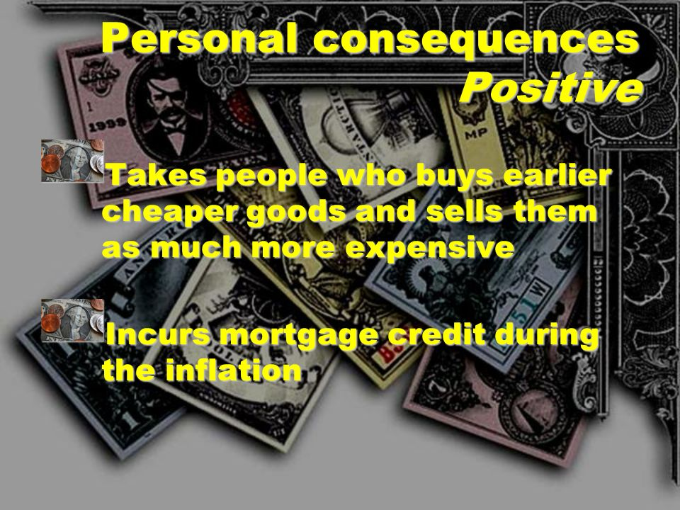 Personal consequences Positive