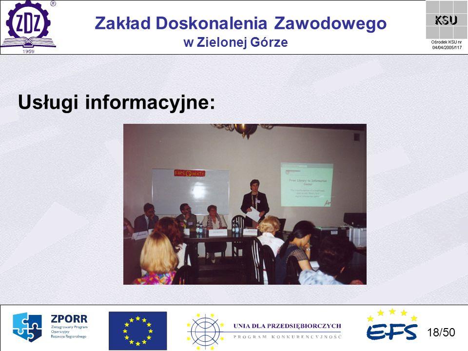 Usługi informacyjne: Zakład Doskonalenia Zawodowego w Zielonej Górze