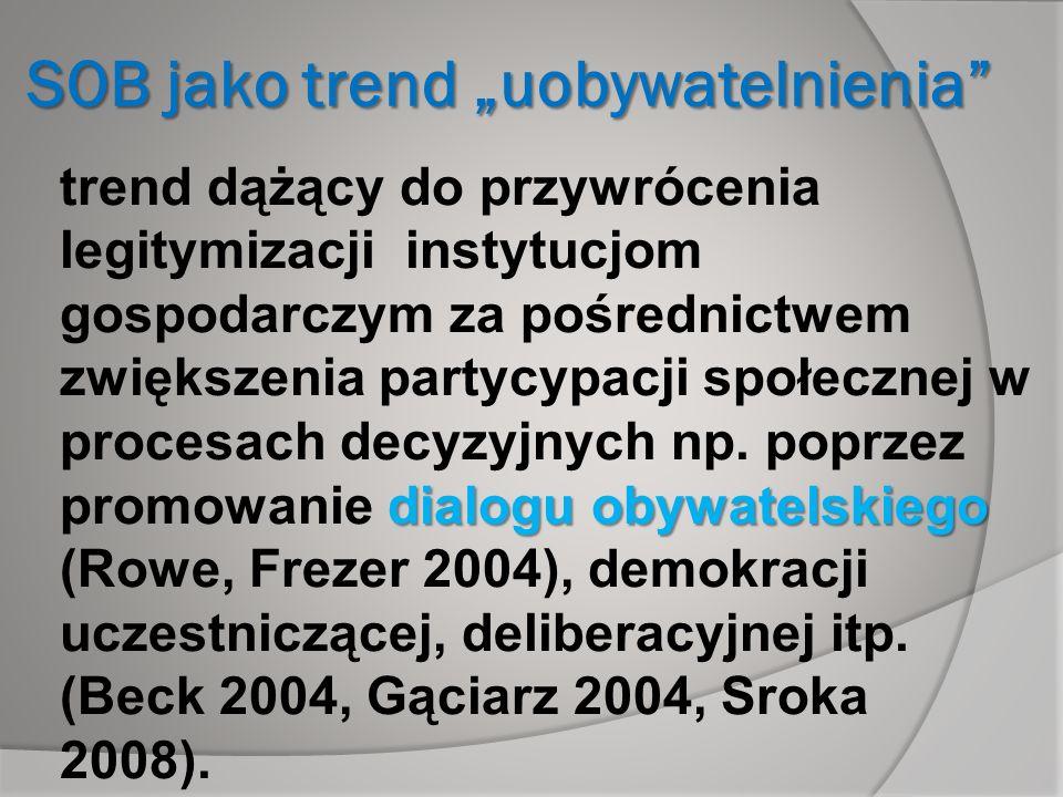 """SOB jako trend """"uobywatelnienia"""