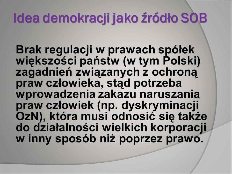 Idea demokracji jako źródło SOB