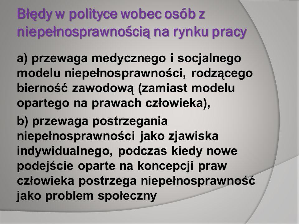 Błędy w polityce wobec osób z niepełnosprawnością na rynku pracy