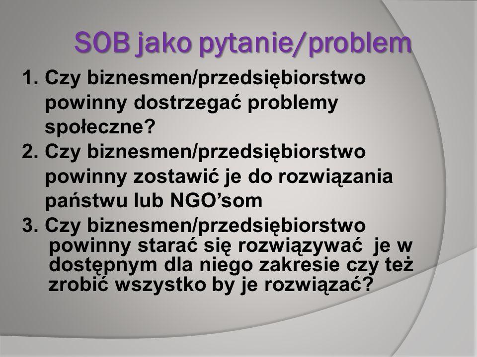 SOB jako pytanie/problem