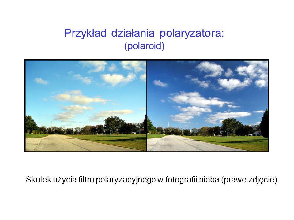 Przykład działania polaryzatora: